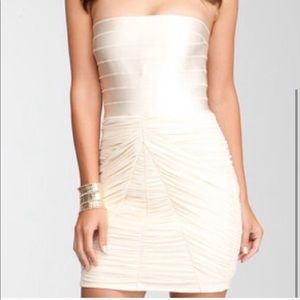 Bebe champagne dress. Size medium.